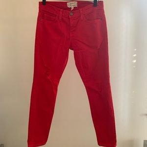 Current Elliot Red Jeans